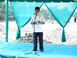 Bupati Asahan Letakkan Batu Pertama Pembangunan Pondok Pesantren Nurul Ikhwan Kecamatan Air Joman