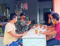 Sambangi Warkop, Satgas TMMD Kodim 0204/DS Komsos Manfaat PPKM Mikro