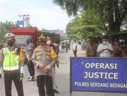 Kapolres Sergai Pimpin Langsung Penyekatan di Kabupaten Sergai
