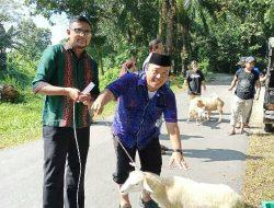 Kakanwil Kemenag Sumut Drs H Syarul Wirdah MM berikan lembu kurban untuk PD Tarbiyah Perti Sumut
