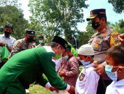 Kolaborasi Bakti Sosial Polri, TNI Dan NU Bersama KSJ Santuni Anak Yatim dan Duafa Di Batu Bara