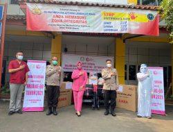 Bhayangkari Setukpa Lemdiklat Polri Bagikan Alkes dan Sembako