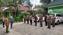 Personil Polsek Medan Baru Bersama 3 Pilar Kecamatan Medan Polonia PPKM Level 4