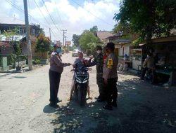 Giat Ops Yustisi, Polsek Tanjung Beringin Imbau Masyarakat Patuhi Prokes