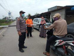 Polsek Firdaus Gencar Laksanakan Ops Yustisi dengan Lakukan Penyekatan di Posko PPKM