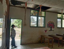 Siswa di Hantui Kekhawatiran,  Gedung Sekolah SDN 105413 Di Sergai Rusak Parah