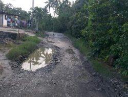 Jalan Menuju Desa Lau Mil Rusak Parah, Butuh Perhatian dari Pemkab Dairi