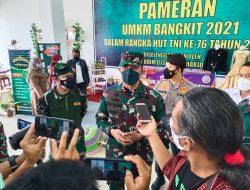 Rangkaian Peringatan HUT TNI ke-76, Kodim 0726/Sukoharjo Gelar Pameran UMKM Bangkit 2021 di Centra Niaga The Park Mall Solo Baru