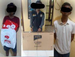Ungkap Kasus Pencurian, 3 Pelaku Diamankan Reskrim Polsek Tanjung Beringin